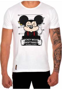 Camiseta Lucas Lunny T Shirt Estampada Mickey Branco
