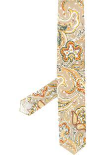 Lardini Gravata Com Estampa Paisley - Neutro