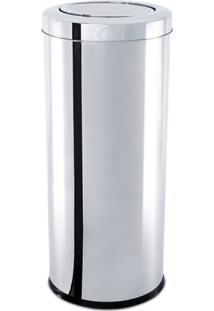 Lixeira Inox Tampa Basculante Decorline 64L 35X70Cm Brinox