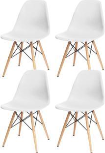 Kit 04 Cadeiras Decorativas Lyam Decor Eiffel Charles Branco. - Tricae