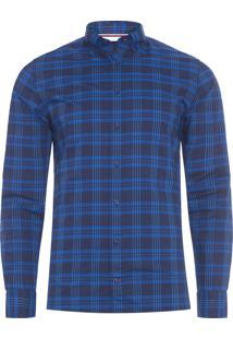 Camisa Masculina Wcc Small Stripe - Azul