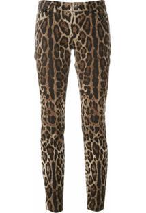 Dolce & Gabbana Calça Com Estampa De Leopardo - Marrom