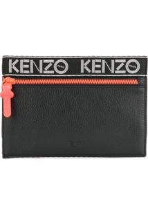 Kenzo Clutch De Couro 'Sport' - Preto