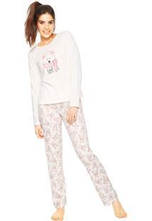 Pijama Espaço Pijama Cool Winter Off-White