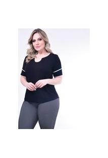 Blusa Plus Size Melinde Nobre Preto