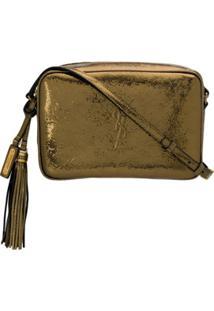 Saint Laurent Bolsa Transversal Metalizada - Dourado