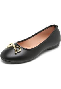 Sapatilha Dafiti Shoes Laço Preta