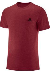 Camiseta Salomon Cotton Ss Masculino G Vermelho