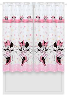 Cortina Santista Disney Minnie Happy Branca