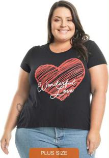Blusa Wonderful Love Preto