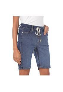 Bermuda Bloom Jogger Jeans De Moletom Azul