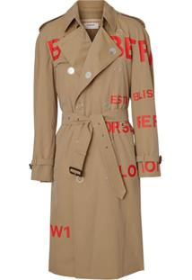 Burberry Trench Coat Gabardine - Neutro