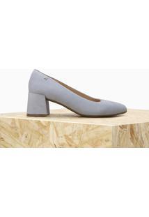 Scarpin Flora Camurça Jeans | Owme