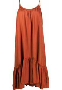 Allsaints Vestido Midi Paola - Vermelho