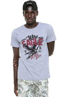 Camiseta Fiveblu Manga Curta Eagle Cinza