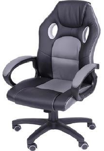 Cadeira Office Gamer- Preta & Cinza- 135X60X51Cmor Design