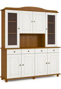 Cozinha Compacta Rubi 8 Pt 4 Gv Marrom E Branca