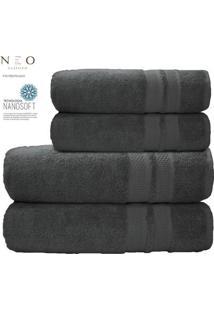 Toalha De Banho Gigante Neo Allure- Cinza Escuro- 80Camesa