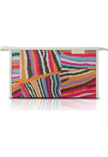 Necessaire Envelope Jacki Design Nylon - Feminino-Bege