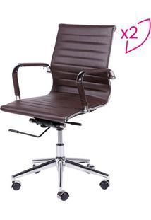Jogo De Cadeiras Office Eames Esteirinha- Cafã©- 2Pã§Sor Design