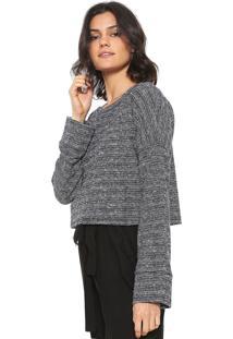 f64b0209be368 R  219,97. Dafiti Blusa Cropped Calvin Klein Jeans Texturizado Cinza