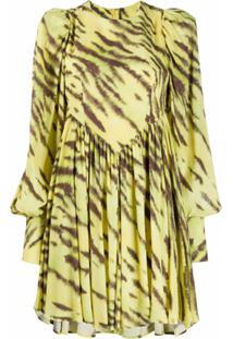 Rotate Tiger-Print Mini Dress - Amarelo