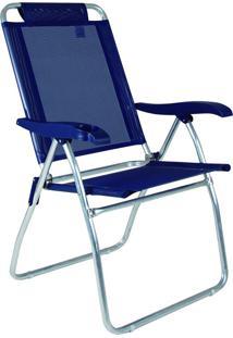 Cadeira Reclinável Boreal Azul Marinho Mor