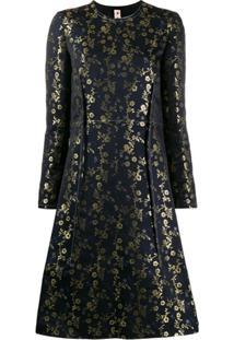 Marni Floral Embroidered Midi Dress - Azul