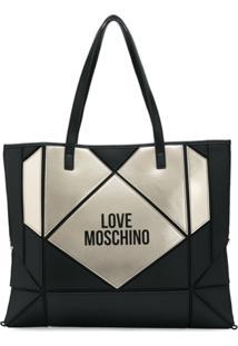 Love Moschino Bolsa Tote Com Estampa De Coração - Preto