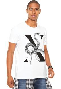 Camiseta Ellus Snake Branca