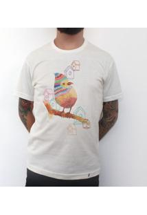Pássaro - Camiseta Clássica Masculina