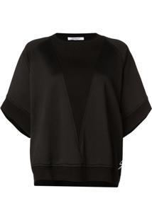Givenchy Blusa De Moletom Oversized Assimétrica - Preto
