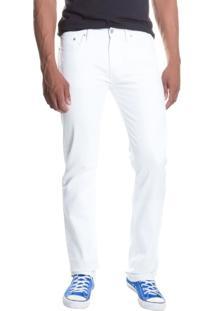 Calça Jeans Levis 513 Slim Straight Branca Branco