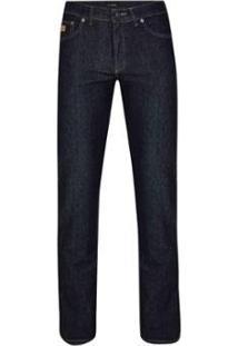 Calça Jeans Pierre Cardin Amaciada Trust Masculina - Masculino-Marinho