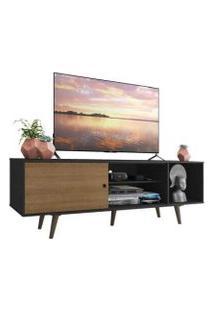 Rack Madesa Dubai Para Tv Até 65 Polegadas Com Pés Preto/Rustic/Rustic