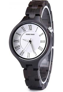 Relógio Madeira Dododeer-A16 - Branco