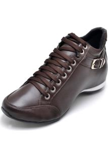 Bota Peccato Sapatos24Horas 3/4 Confort Fivela Café