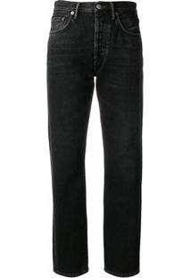Acne Studios Calça Jeans Reta - Preto