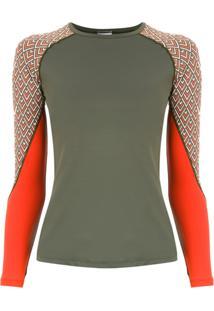 Track & Field Camiseta 'Surf' Mangas Longas - Green
