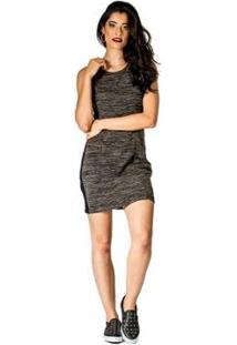 Vestido Slim Capitu Handbook - Feminino-Cinza