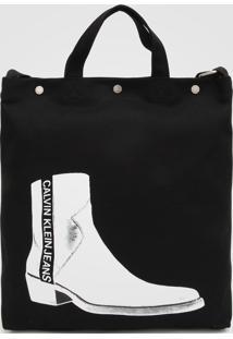 Bolsa Calvin Klein Utility Boot Preta