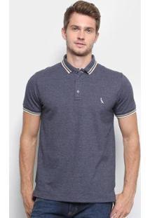 Camisa Polo Reserva Piquet Frisos Masculina - Masculino-Marinho