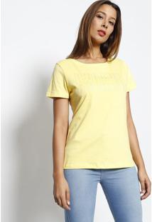 """Blusa """"Guess®?"""" Com Brilho- Amarela & Prateada- Guesguess"""