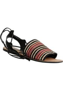 Sandália Dakota Amarração Feminina - Feminino-Preto