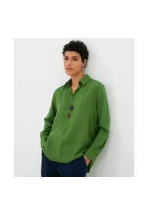 Camisa Polo Com Botões Assimétricos | Marfinno | Verde | Pp