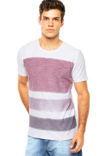 Camiseta Aramis Logo Listras Branca