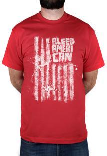 Camiseta Bleed American Dark Flag Vermelha
