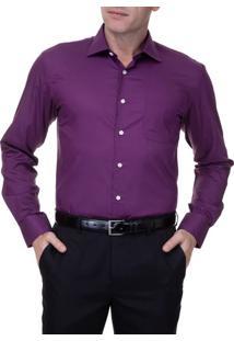 Camisa Masculina Lisa Upper Roxa
