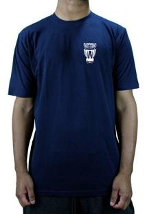 Camiseta Manga Curta Skate Eterno Leao Azul