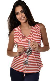 Blusa Manga Curta Banca Fashion Casual Chique Vermelho